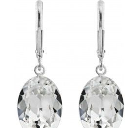Pierced Earrings with Original Swarovski Crystals Clear