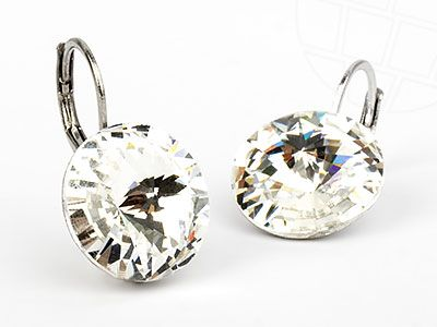 Pierced Earrings with original Swarovski Crystals Crystal Clear